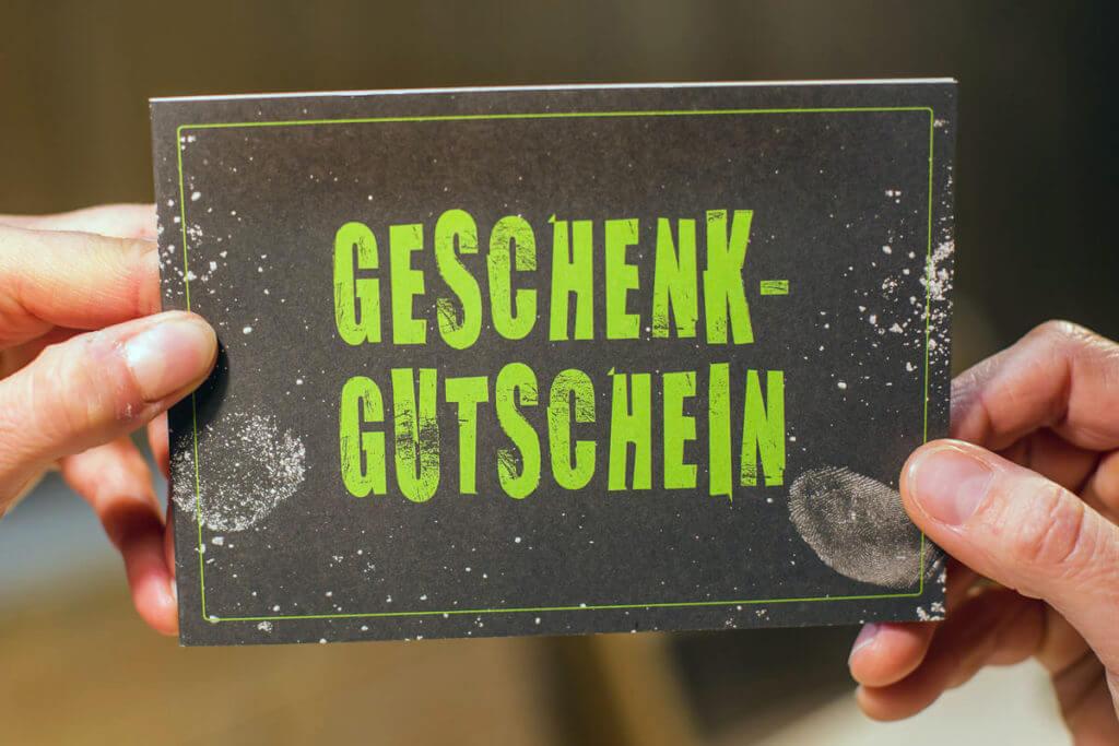 Geschenkgutschein, Bloc-Hütte Augsburg