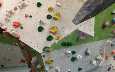 Neue grüne Boulder