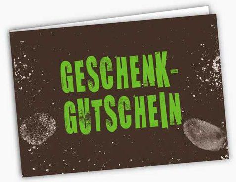 Geschenkgutschein Karte der Boulderhalle Bloc-Hütte Augsburg